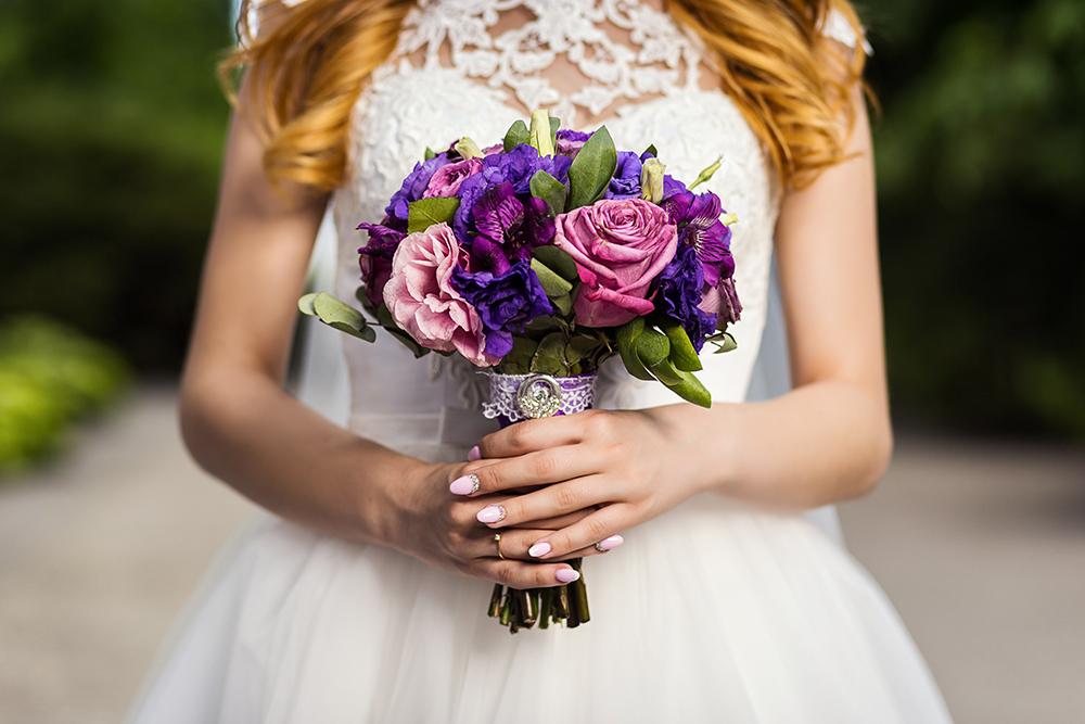 Brauststrauss violett