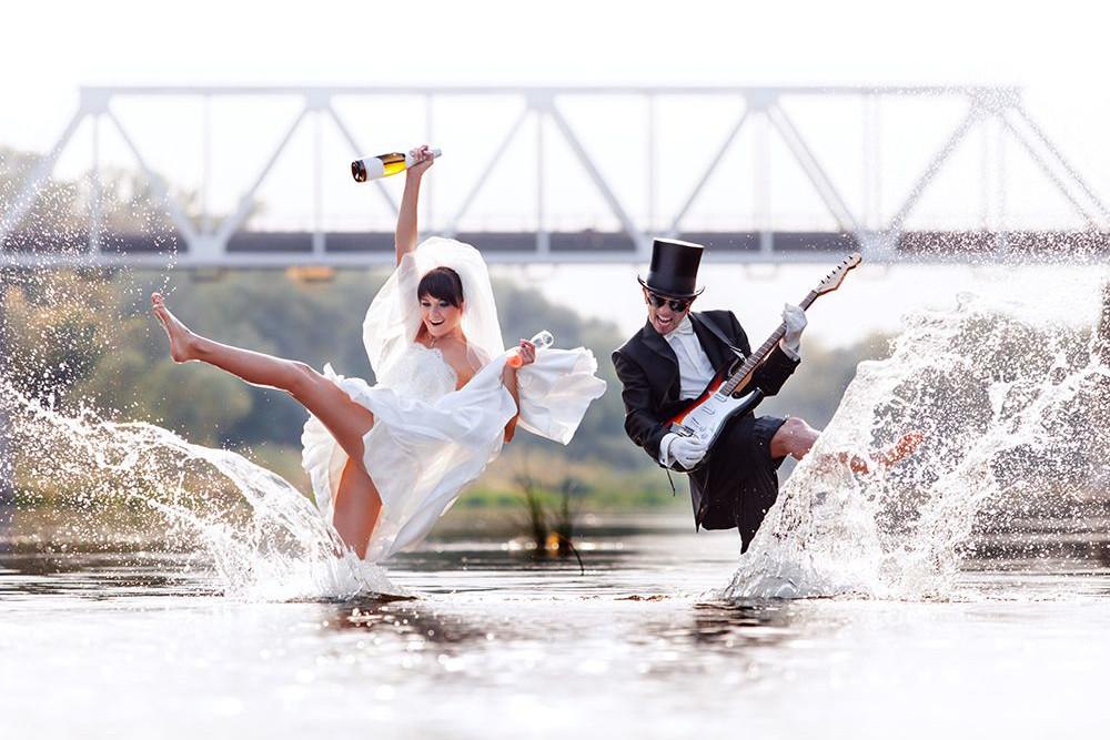 Witzige Und Ausgefallene Gruppenfotos Auf Der Hochzeit Fotos