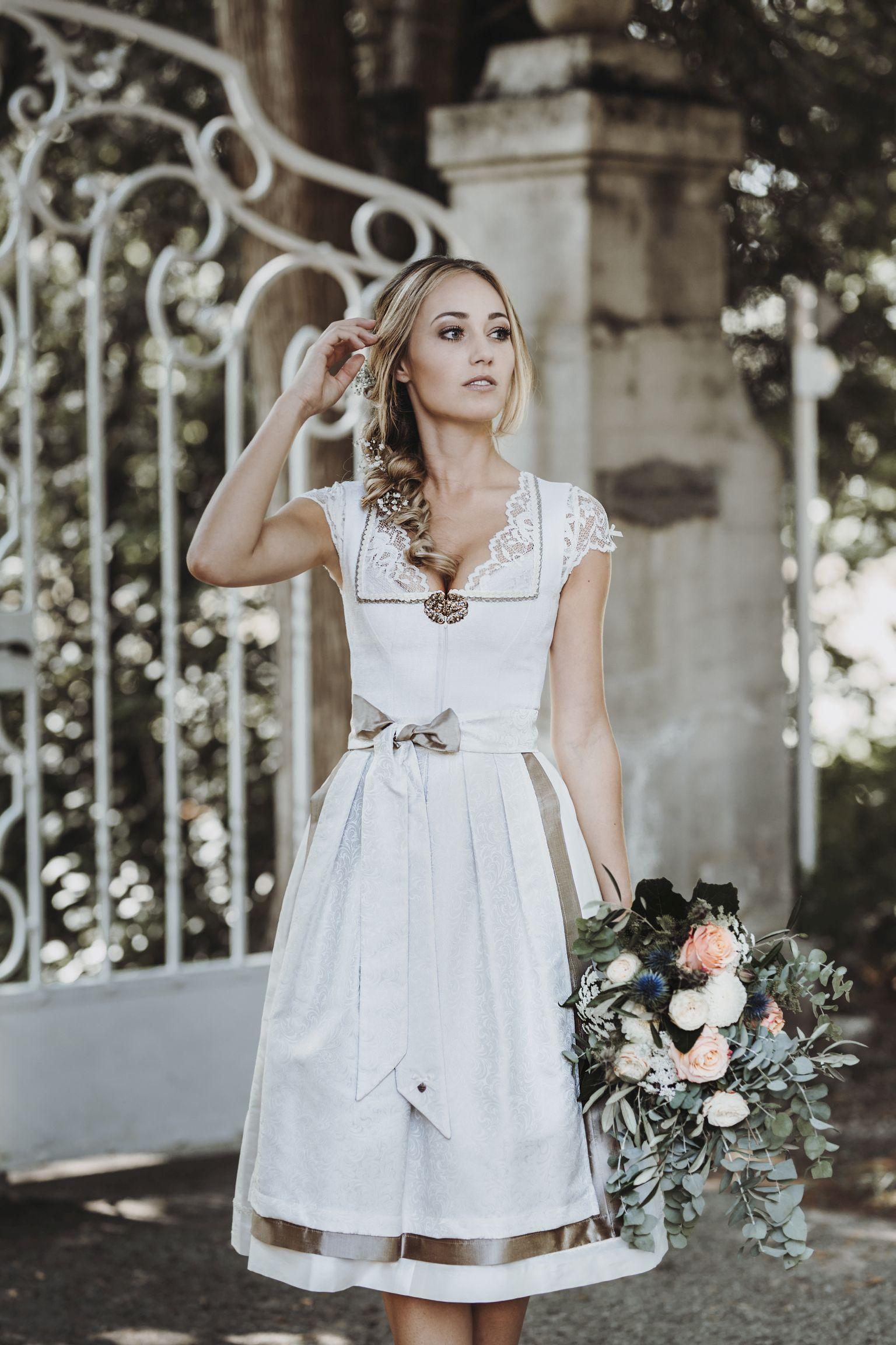 Dirndl Murielle Hochzeit Creme Hochzeit De